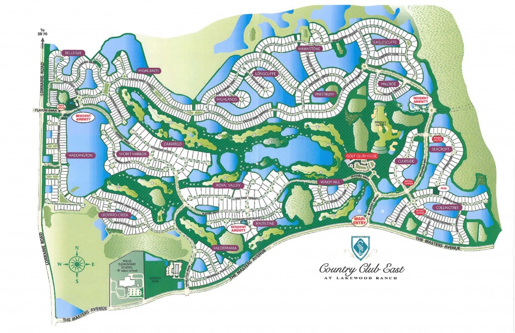 Country Club East Real Estate - Lakewood Ranch Map Florida