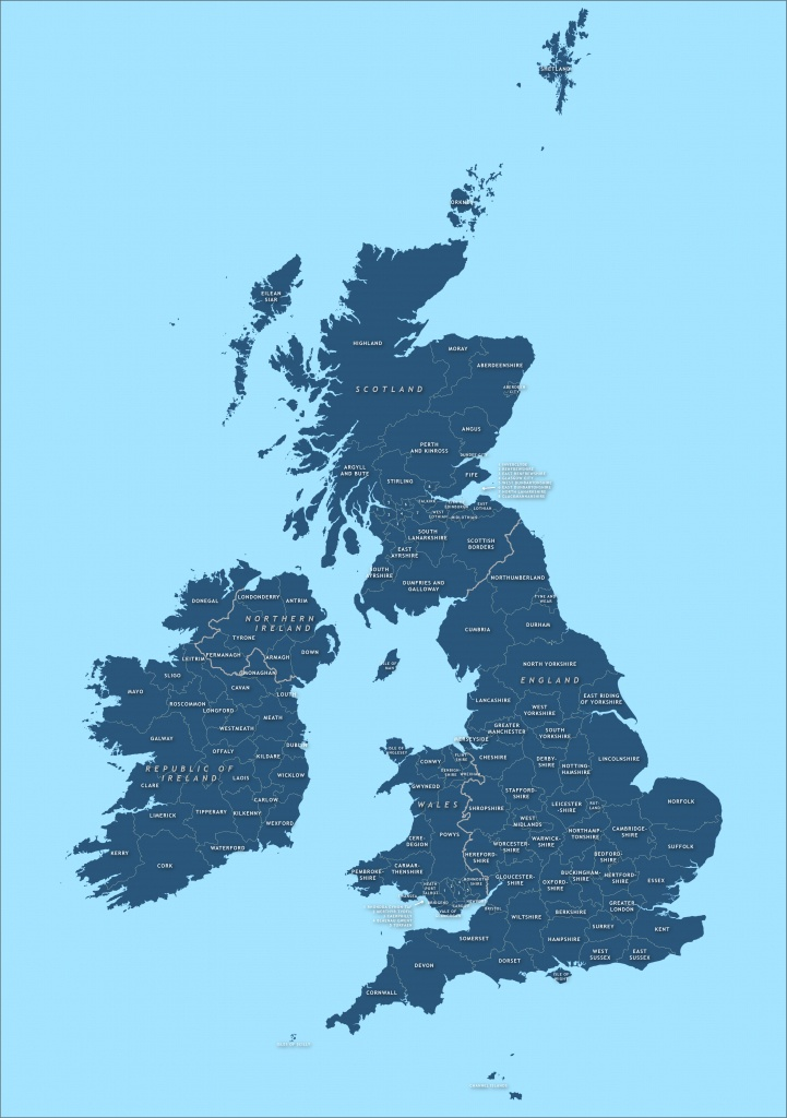 County Map Of Britain And Ireland - Royalty Free Vector Map - Maproom - Printable Map Of Uk Counties