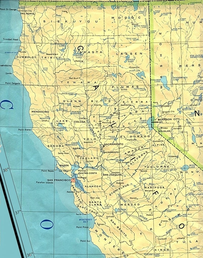 County Map Of Northern California With Cities – Town-Seek Intended - Map Of Northern California Counties And Cities