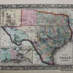 County Map Of Texas   Reproduction   Antique Maps And Charts   Antique Texas Map Reproductions