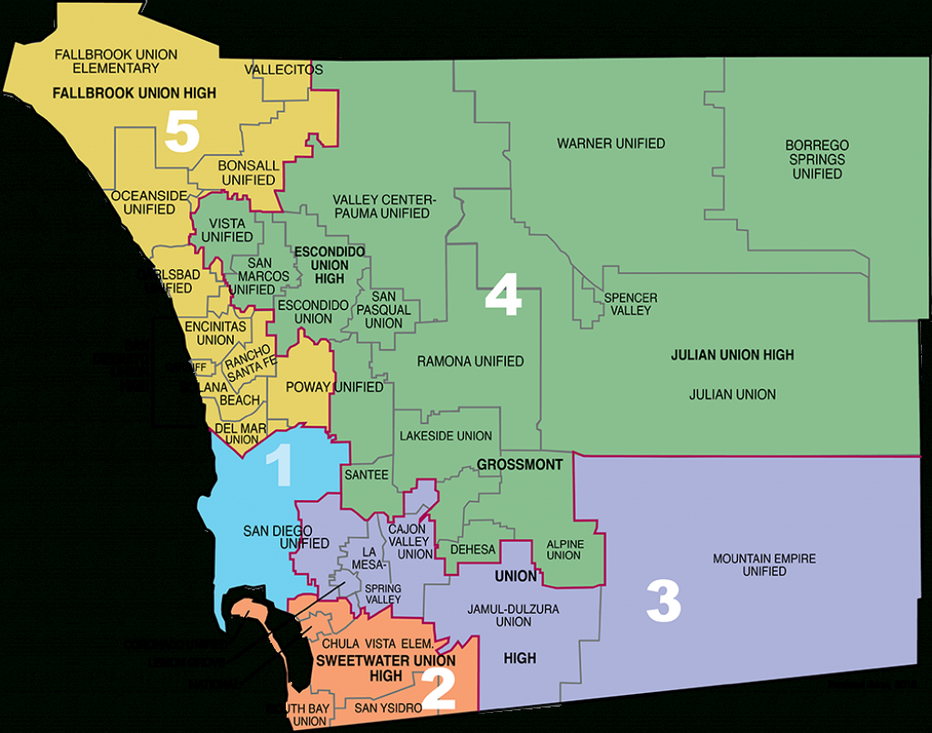 County Of San Diego Map | Danielrossi - Where Is Del Mar California On The Map