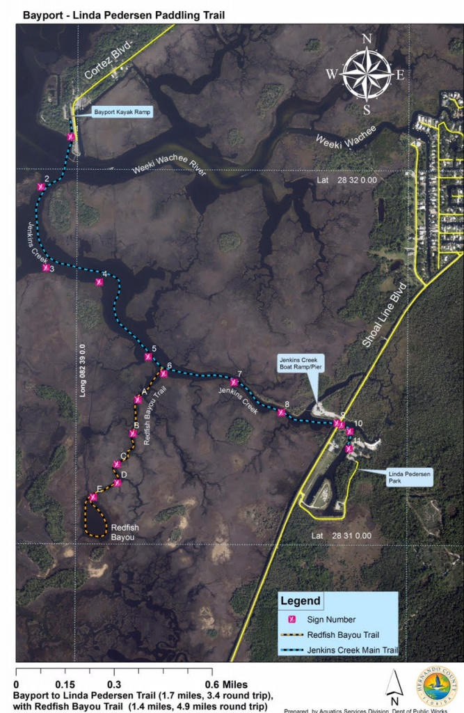 County Opens Paddling Trail At Bayport & Linda Pedersen Parks - Florida Paddling Trail Maps