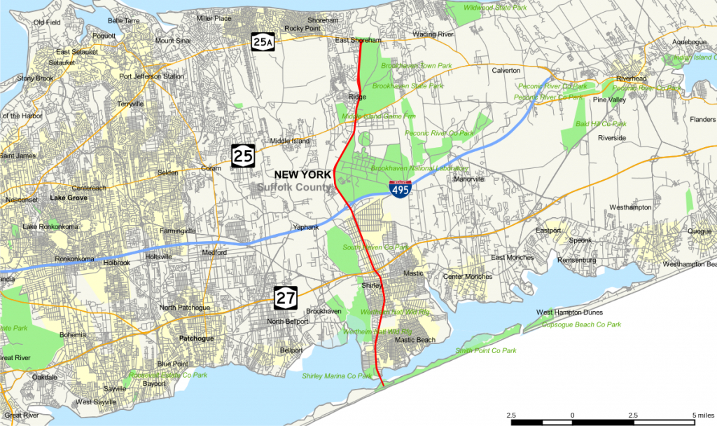County Route 46 (Suffolk County, New York) - Wikipedia - Printable Map Of Suffolk County Ny