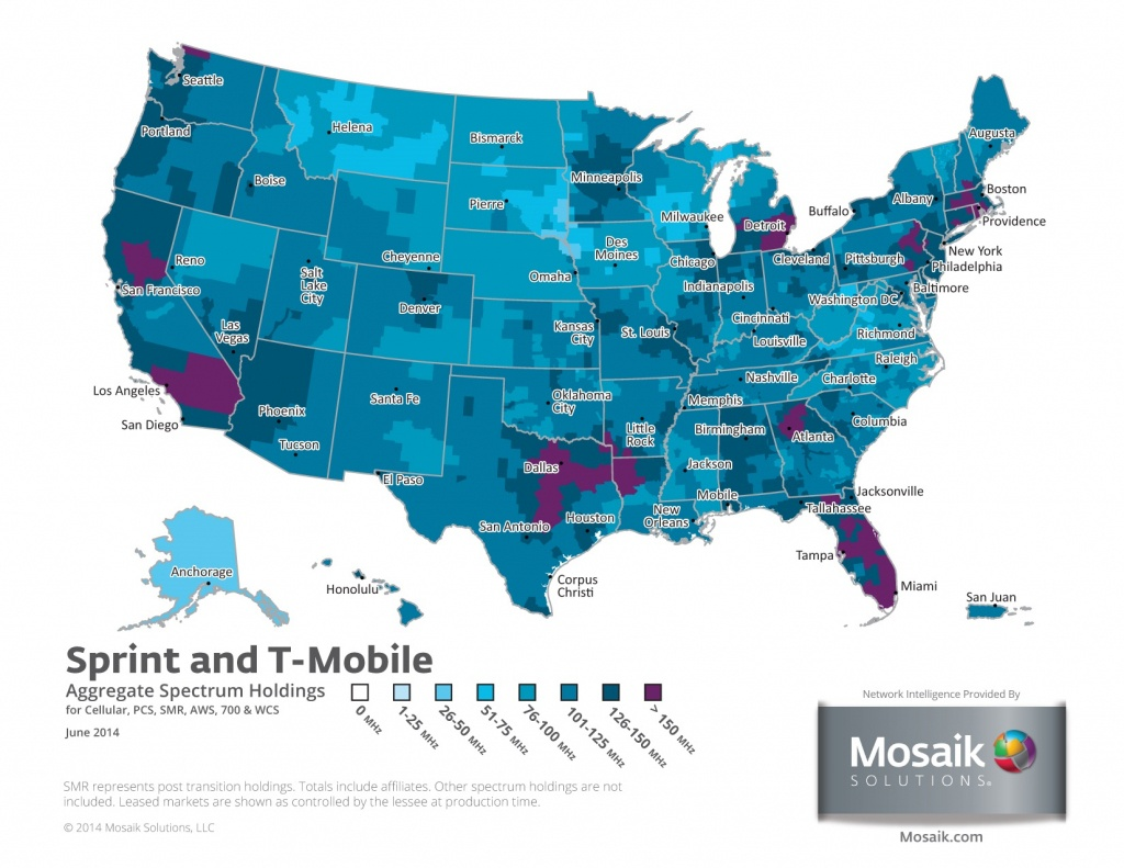 Coverage Maps For All Prepaid Carriers | Prepaid Phone News - Sprint Coverage Map Southern California
