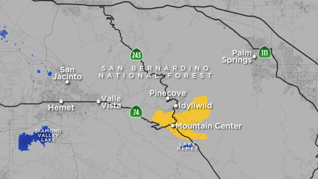 Cranston Fire Map: Where Idyllwild Brush Fire Is Burning | Abc7 - Abc News California Fires Map