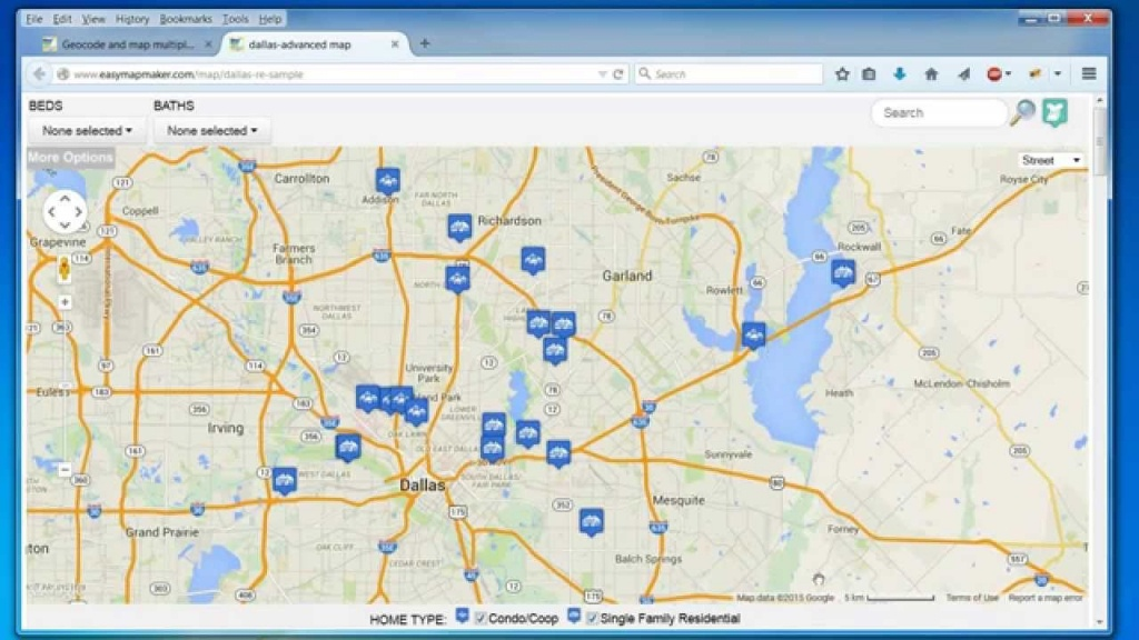 Create A Map: Easily Map Multiple Locations From Excel Data - How To Create A Printable Map