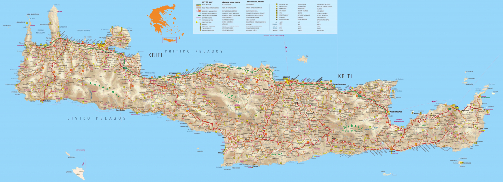 Crete Maps, Print Maps Of Crete, Map Of Chania Or Heraklion - Printable Map Of Crete