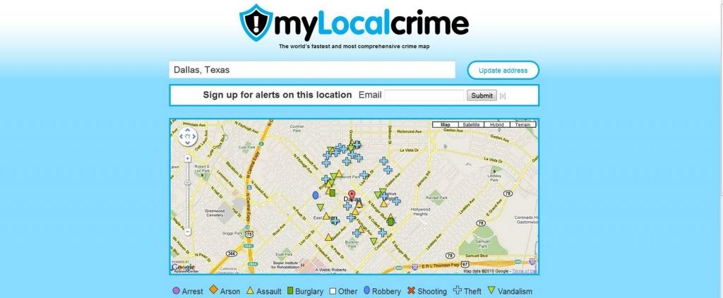 Crime Maps Around The World: Dallas Texas Crime Map - Texas Crime Map