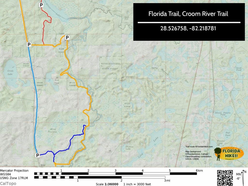 Croom River Trail | Florida Trail | Withlacoochee State Forest - Florida Trail Maps Download