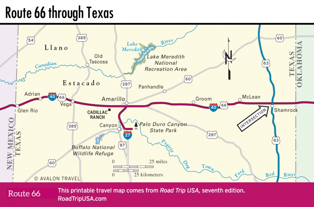 Crossing The Texas Panhandle On Route 66 | Road Trip Usa - Route 66 Texas Map