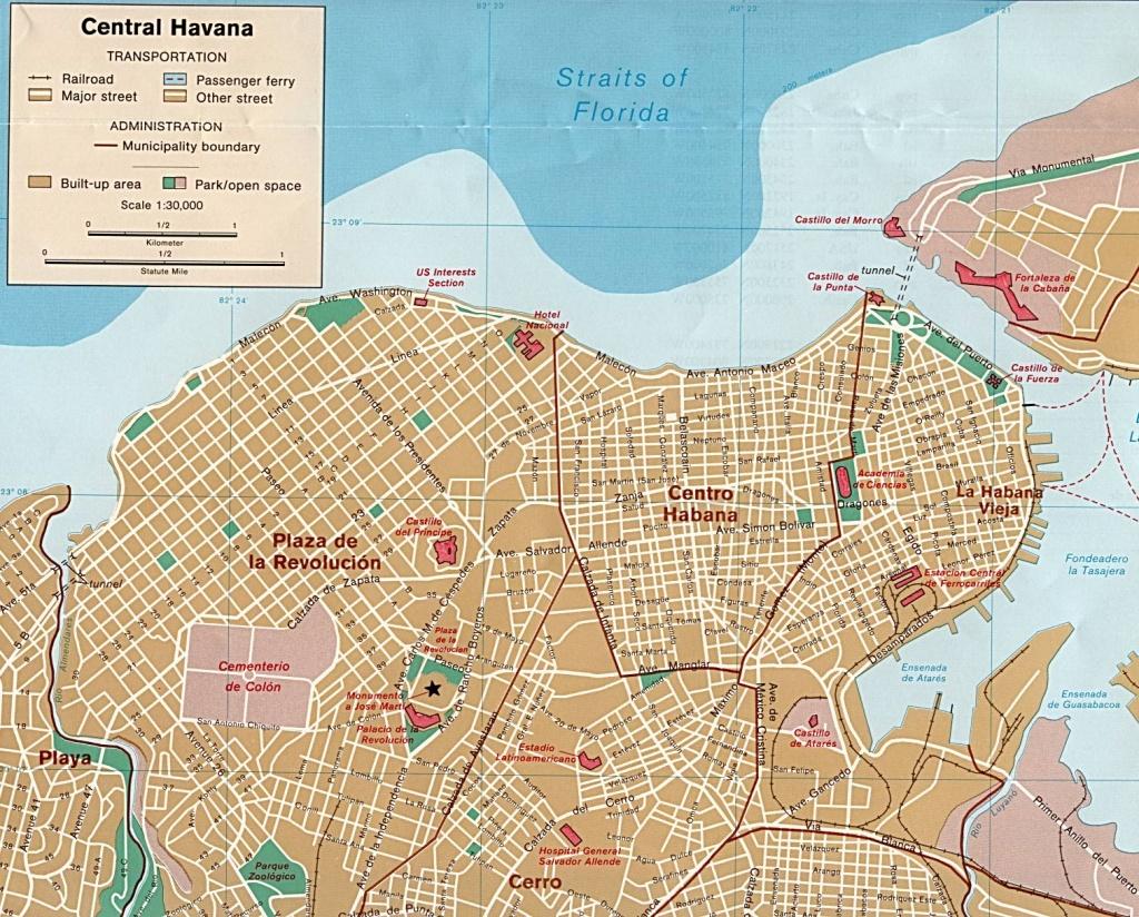 Cuba Maps - Perry-Castañeda Map Collection - Ut Library Online - Havana City Map Printable