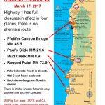Current Big Sur Highway 1 Closures | Big Sur California   California Road Conditions Map