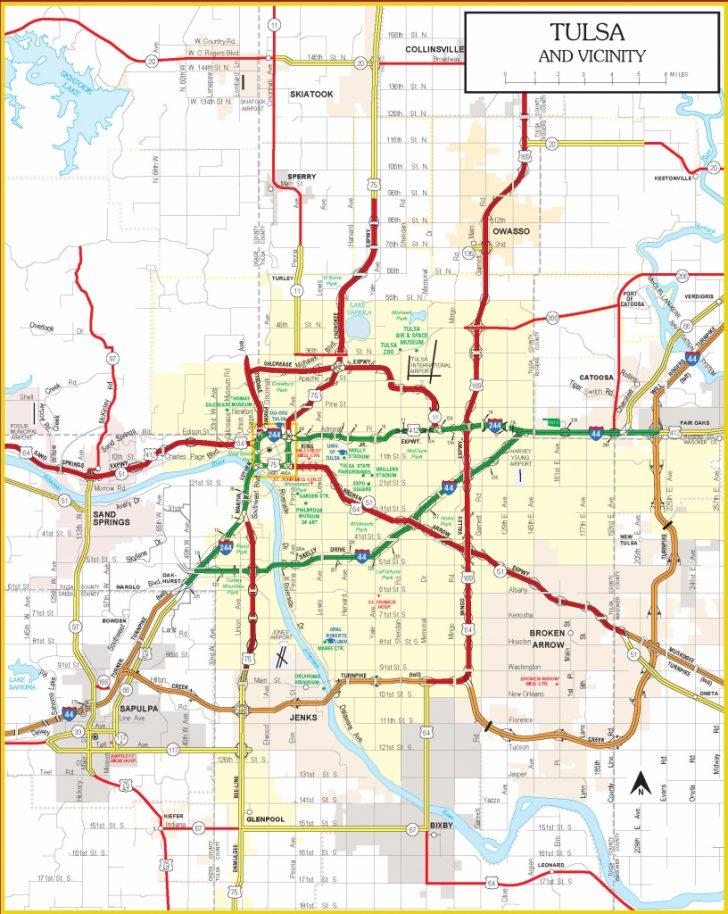 Oklahoma State Map Printable