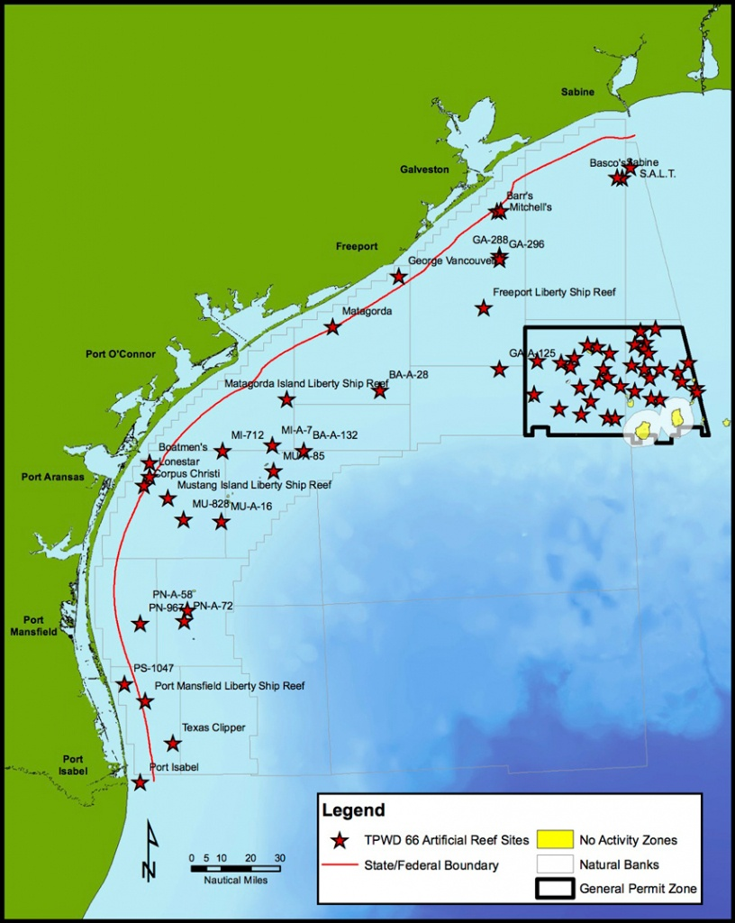 Current Projects - Latest News - Artificial Reef Program - Tpwd - Texas Oil Rig Fishing Map