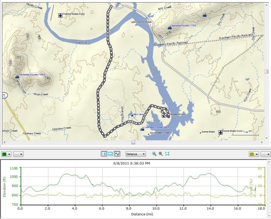 Cycling – Kingsland / Sunrise Beach Loop 6/8/2011 | Don Bynum's Blog - Sunrise Beach Texas Map