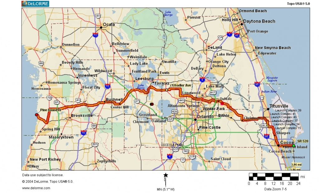 Cycling Routes Crossing Florida - Google Maps Melbourne Florida