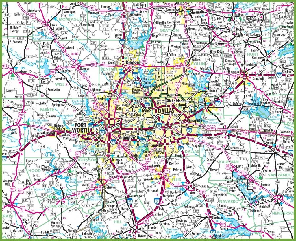 Dallas Area Road Map - Dallas Map Of Texas