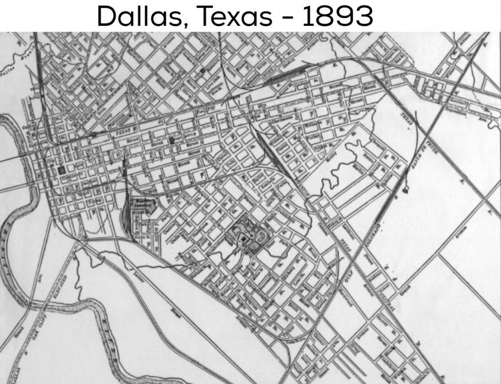 Dallas Street Map: 1893 | Dallas County, Usa | Dallas Texas, Dallas - Street Map Of Dallas Texas