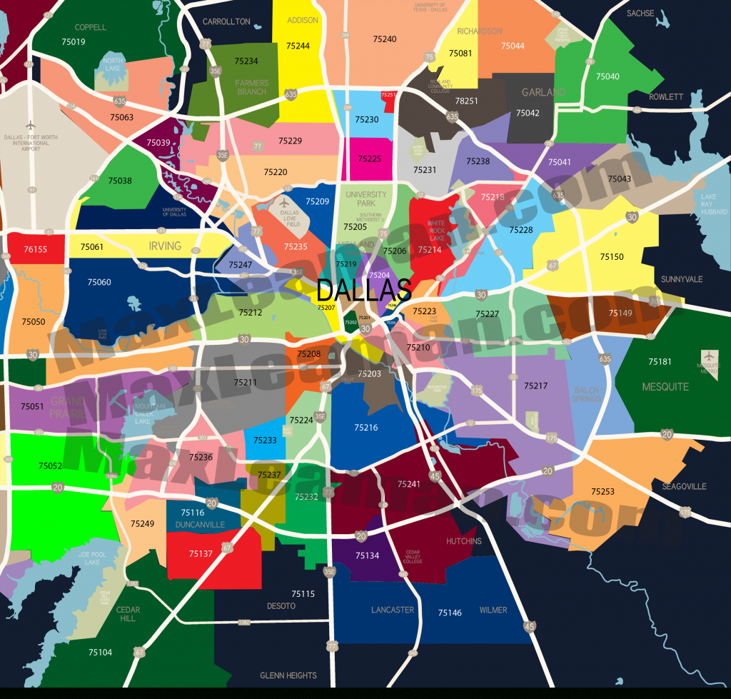 Dallas Zip Code Map | Mortgage Resources - Houston Zip Code Map Printable