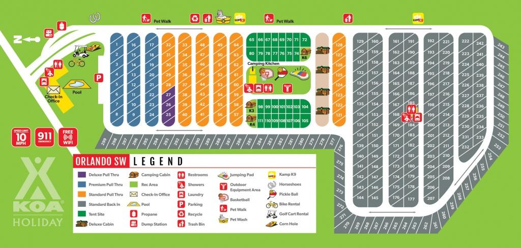 Davenport, Florida Campground | Orlando Southwest Koa - Koa Florida Map