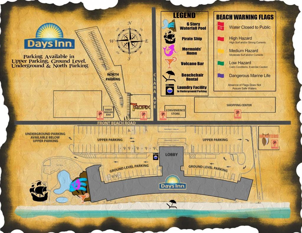 Days Inn Map | Days Inn Panama City Beach Florida - Map Of Panama City Beach Florida