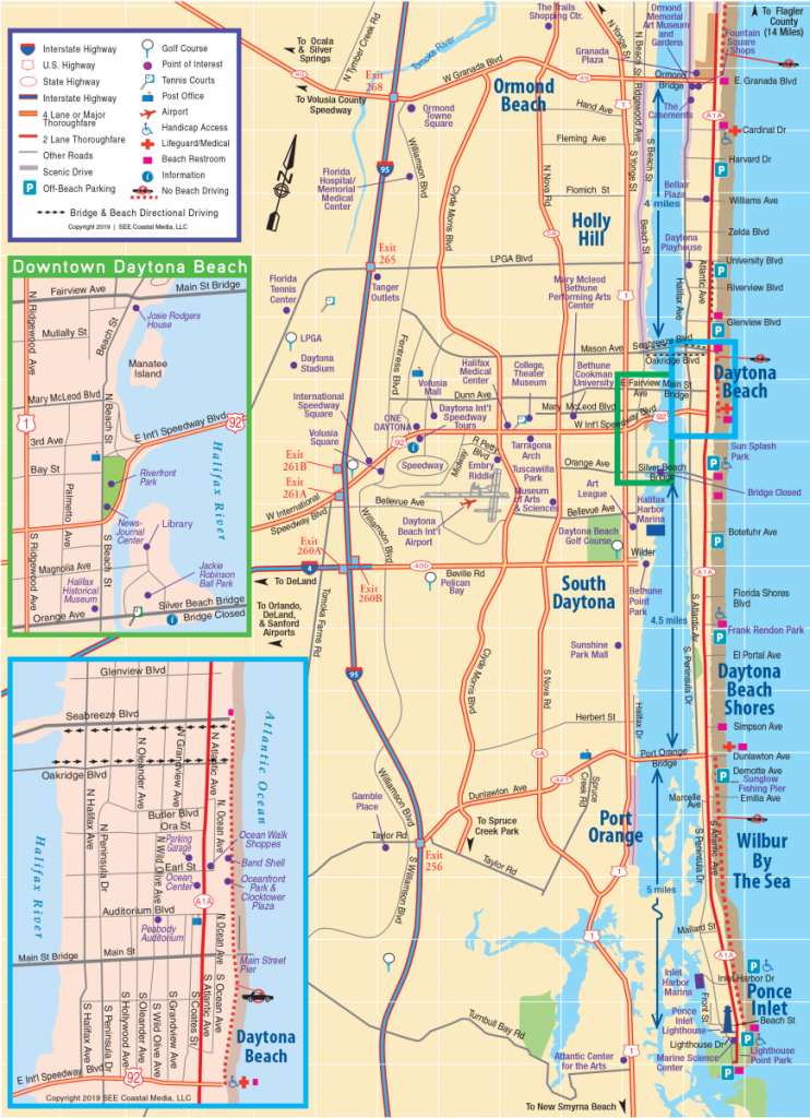Daytona Beach Area Attractions Map | Things To Do In Daytona - Florida Map Hotels