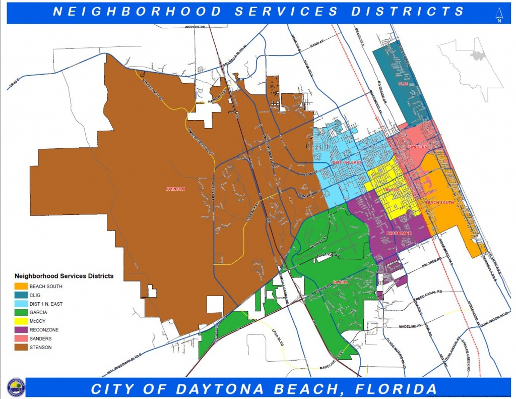 Daytona Beach, Fl - Official Website - Geographic Information - Map Of Daytona Beach Florida Area