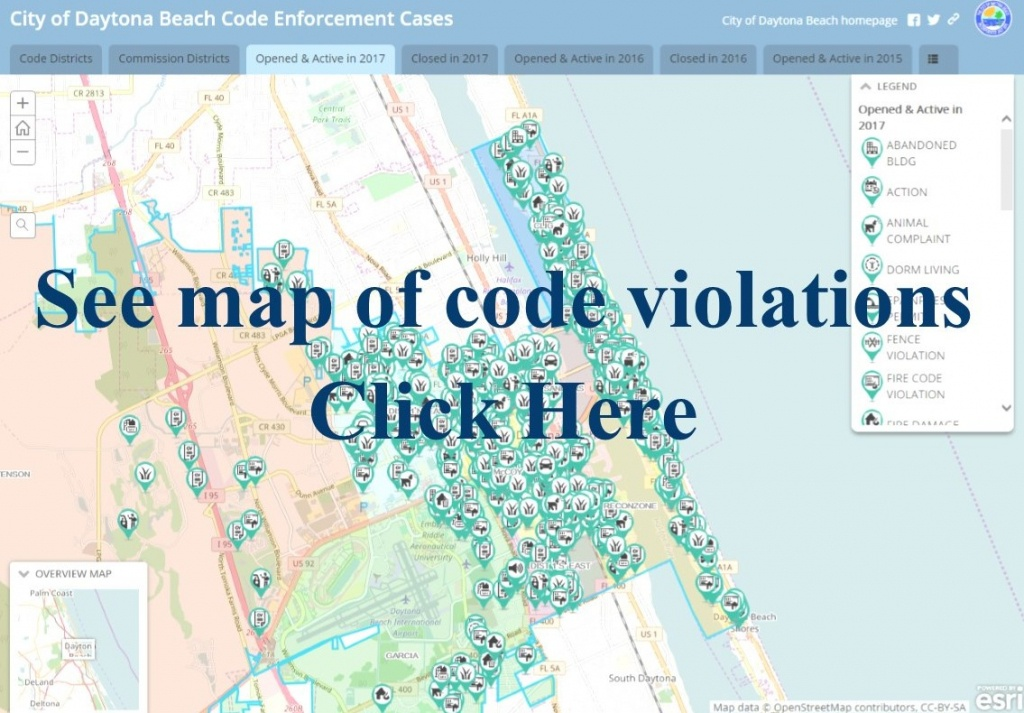 Daytona Beach, Fl - Official Website - Map Of Daytona Beach Florida