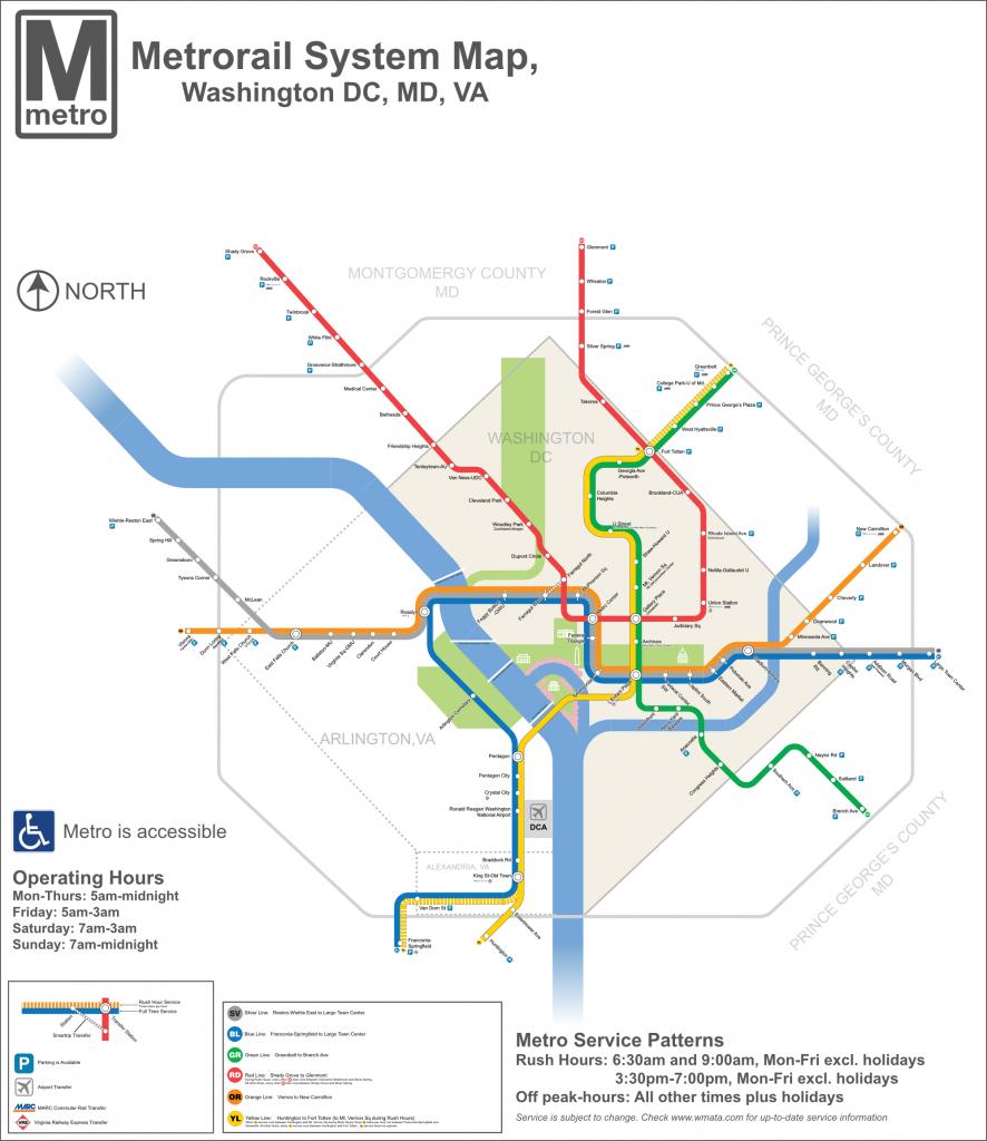 Dc Metro Map - Dc Transit Guide - Washington Dc Subway Map Printable