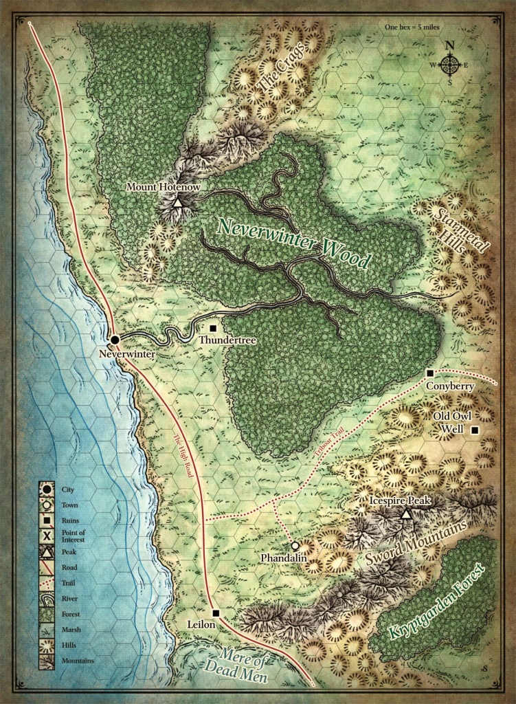 D&d5E] Lost Mine Of Phandelver Player's Map - Lost Mine Of Phandelver Printable Maps