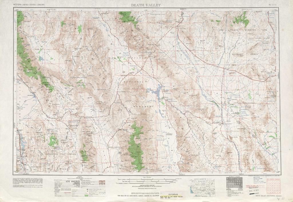 Death Valley Topographic Maps, Ca, Nv - Usgs Topo Quad 36116A1 At 1 - Usgs Topo Maps California