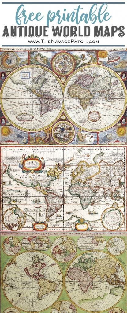 Decoupage Candles With Antique World Maps (Free Printables!) | Free - Printable Antique Maps Free