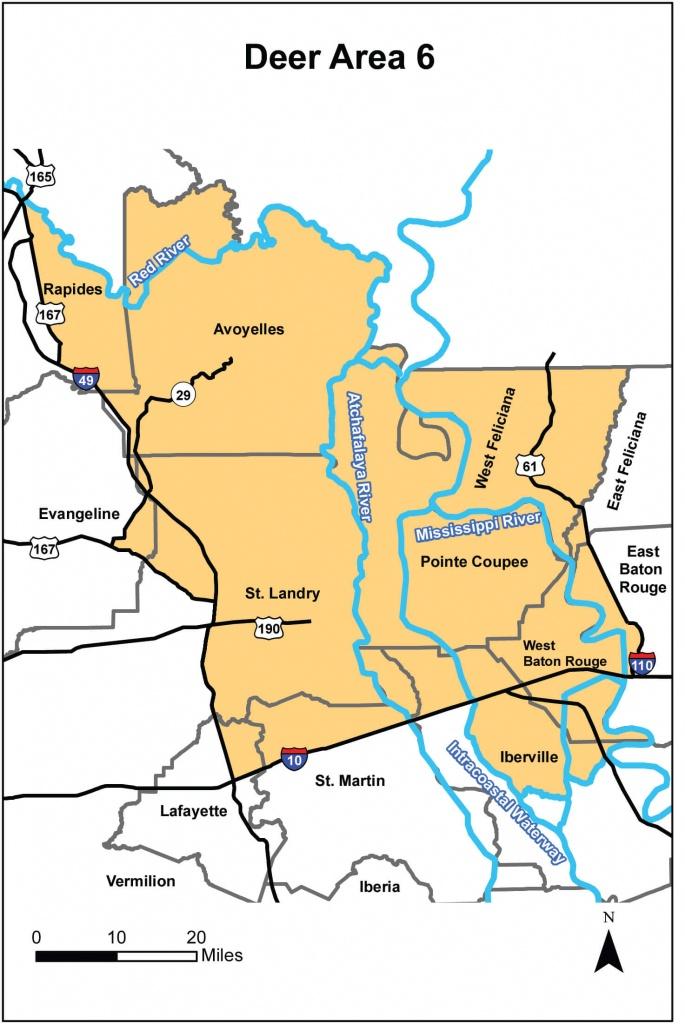 Deer Hunting – Area 6 | Louisiana Hunting Seasons & Regulations - Texas Deer Hunting Zones Map