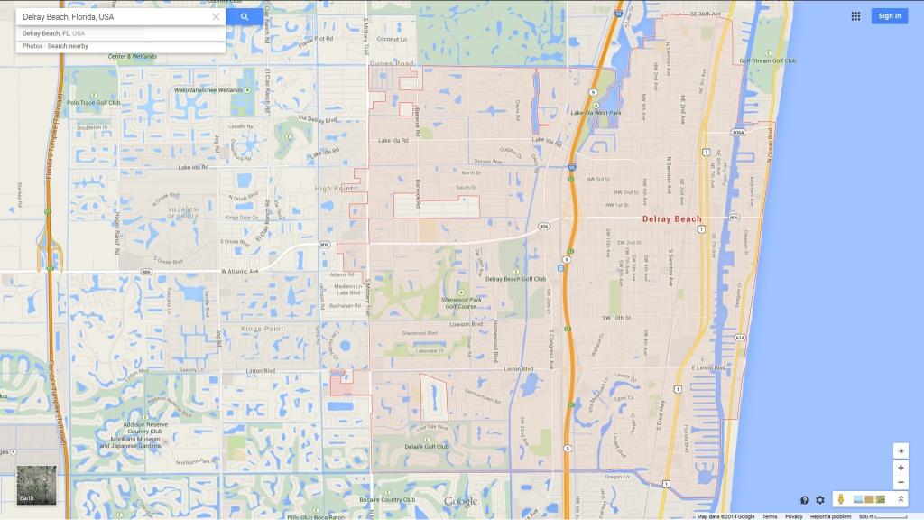 Delray Beach Florida Map - Del Ray Florida Map