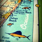 Delray Beach Map, Florida Map Art | Delray Beach | Delray Beach   Del Ray Florida Map
