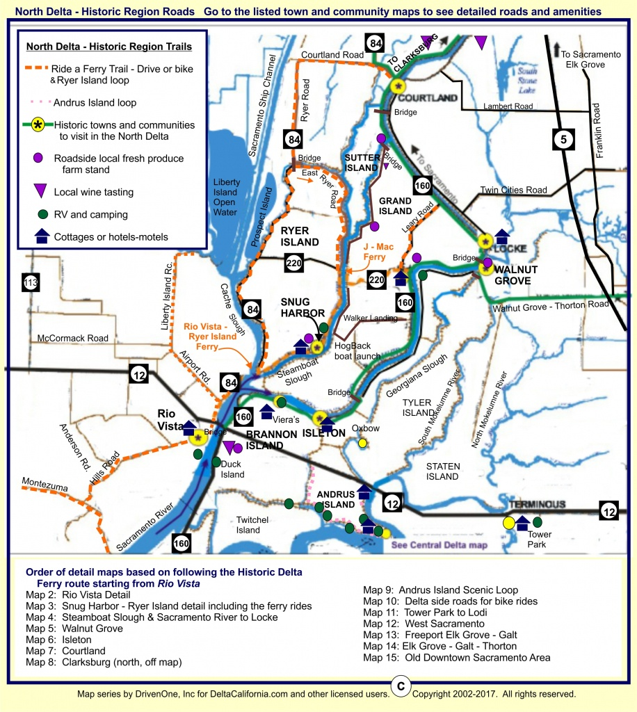 Deltacalifornia – Welcome To The Delta In Northern California - California Waterways Map