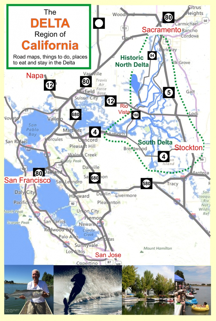 Deltacalifornia – Welcome To The Delta In Northern California - Northern California Fishing Map