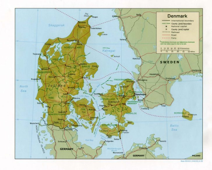 Printable Map Of Denmark