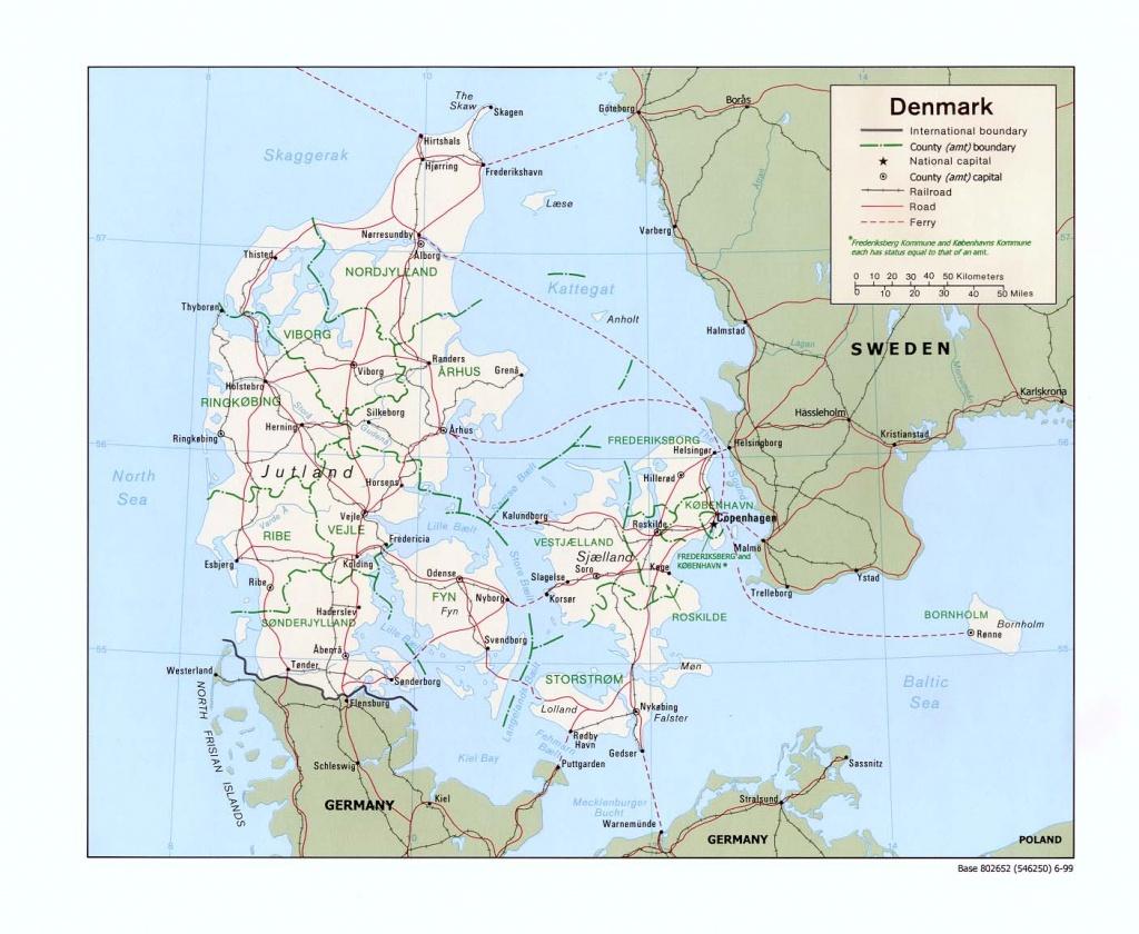 Denmark Maps - Perry-Castañeda Map Collection - Ut Library Online - Printable Map Of Denmark