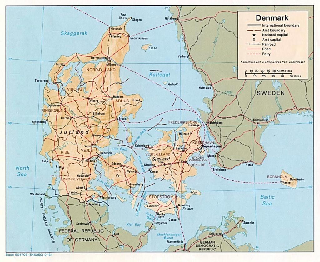 Denmark Maps | Printable Maps Of Denmark For Download - Printable Map Of Denmark