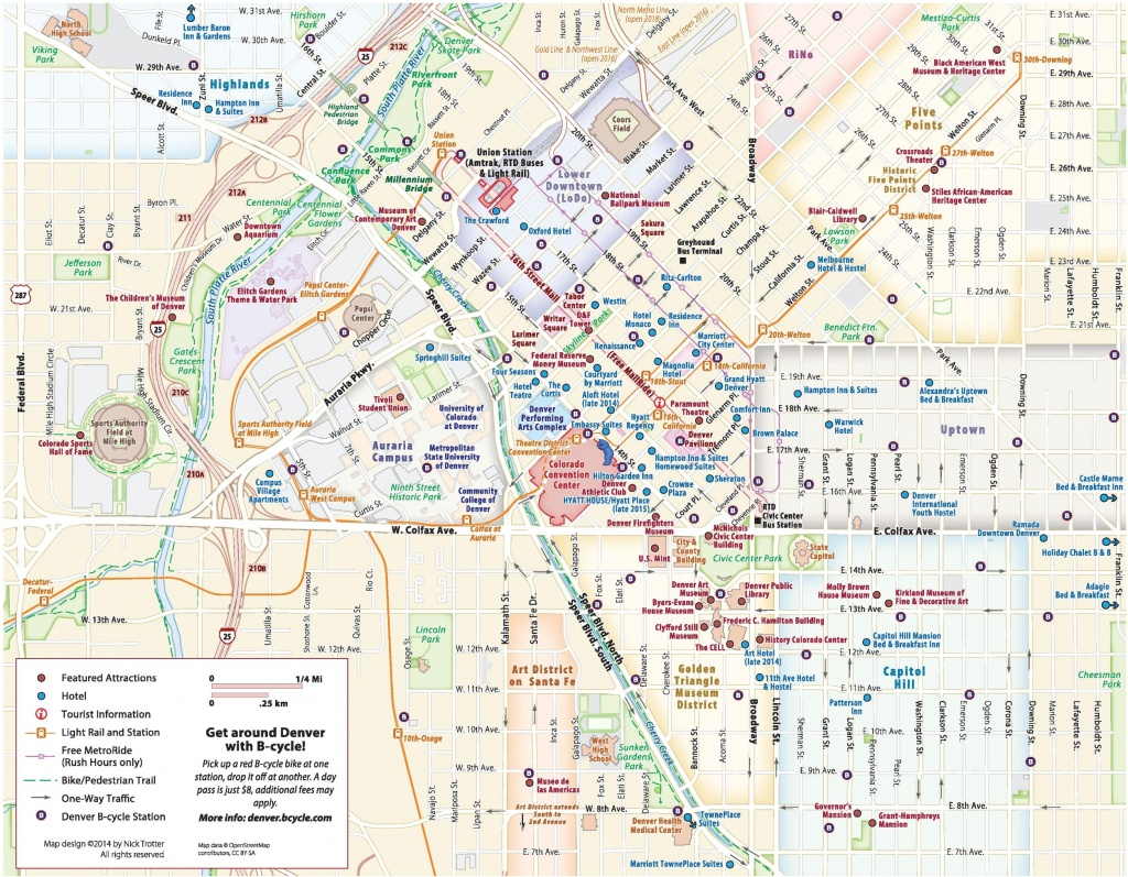 Denver Maps | Colorado, U.s. | Maps Of Denver - Printable Map Of Denver