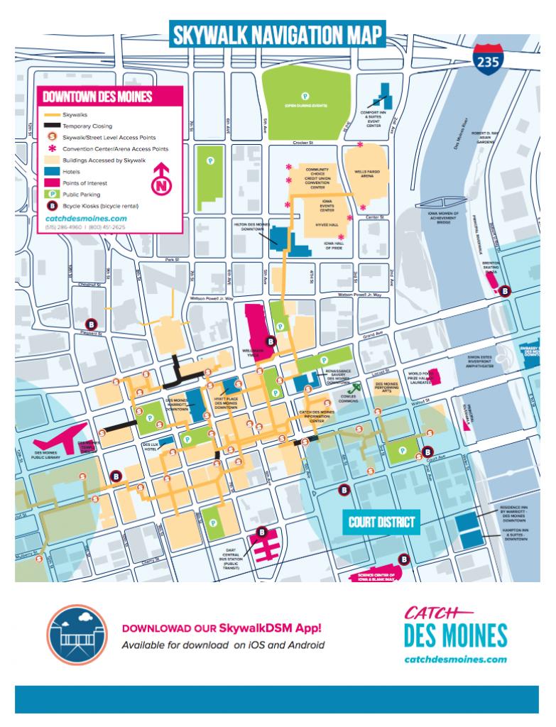 Des Moines Maps | Downtown Map, Trails Map & More - Printable Map Of Des Moines Iowa