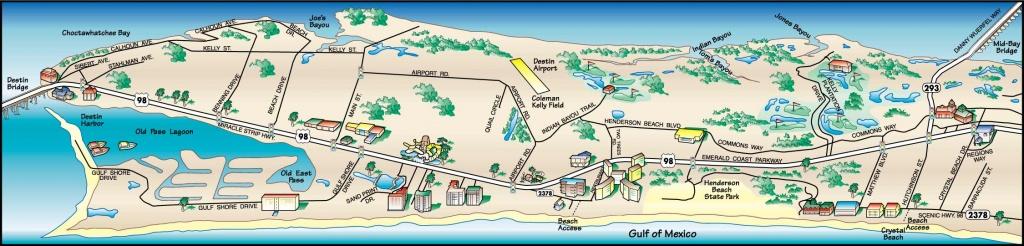 Destin Florida Map Of Hotels | Fysiotherapieamstelstreek - Map Of Destin Florida Attractions