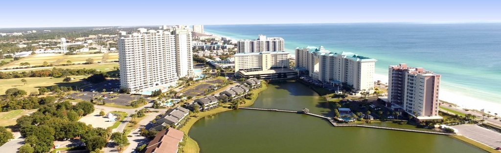 Destin Florida Resort And Condo Rentals - Seascape Resort - Map Of Destin Florida Condos