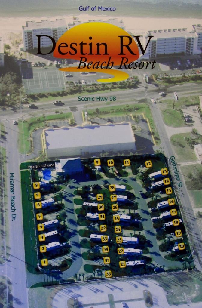 Destin Rv Beach Resort - Map Of Florida Beach Resorts