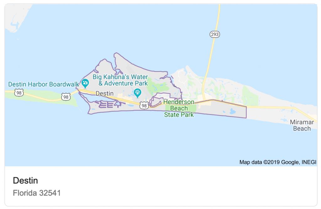 Destin Vs. Naples - Florida Map Destin Fl