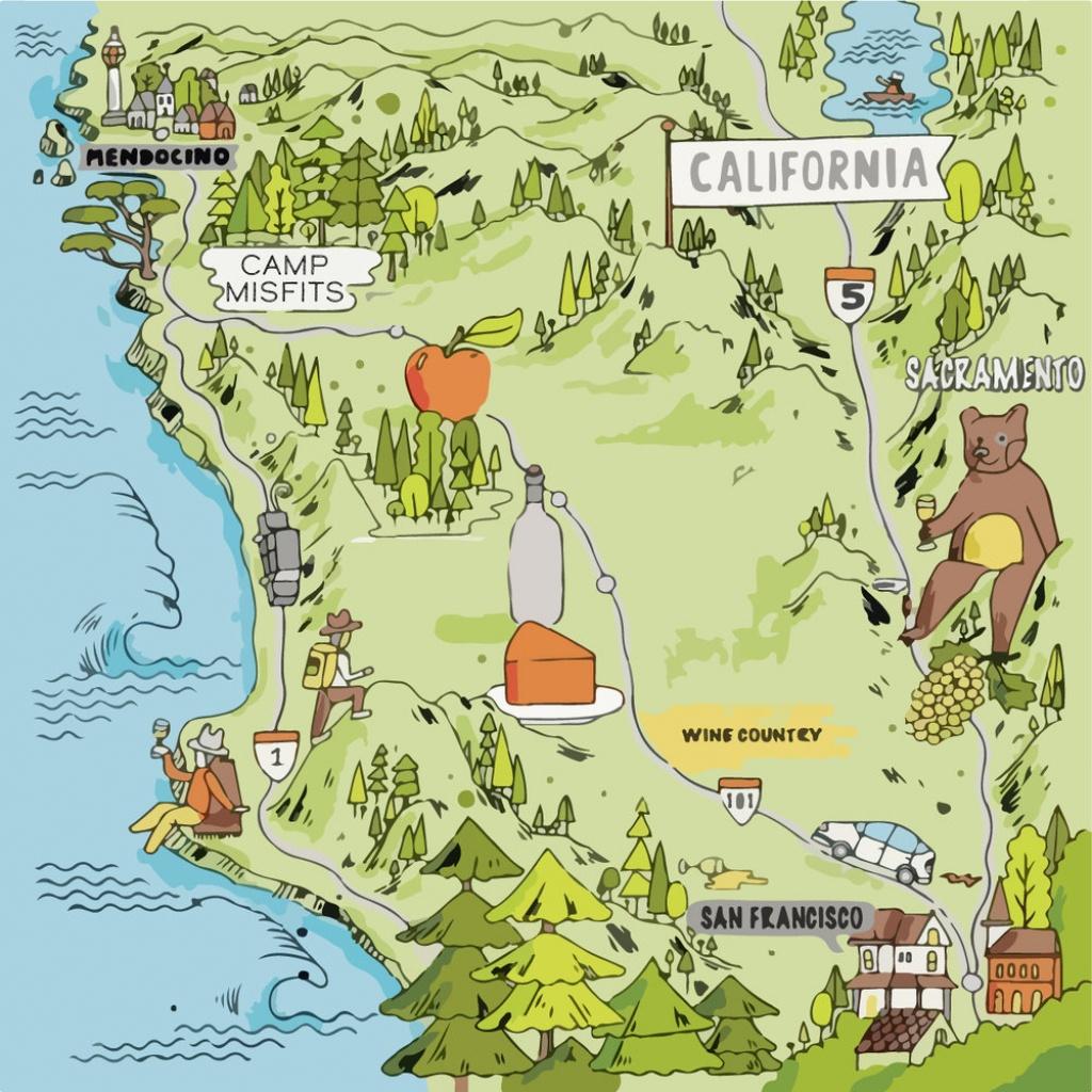 Destination — Camp Misfits - California Campgrounds Map