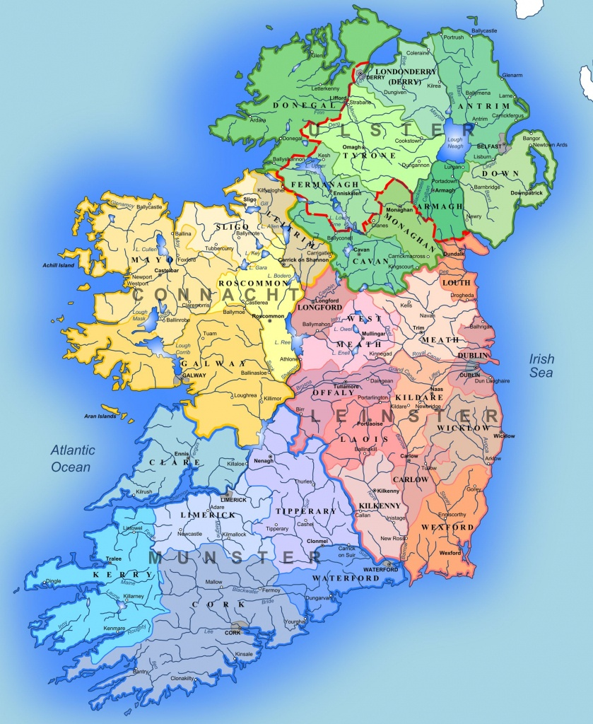 Detailed Large Map Of Ireland | Administrative Map Of Ireland - Large Printable Map Of Ireland