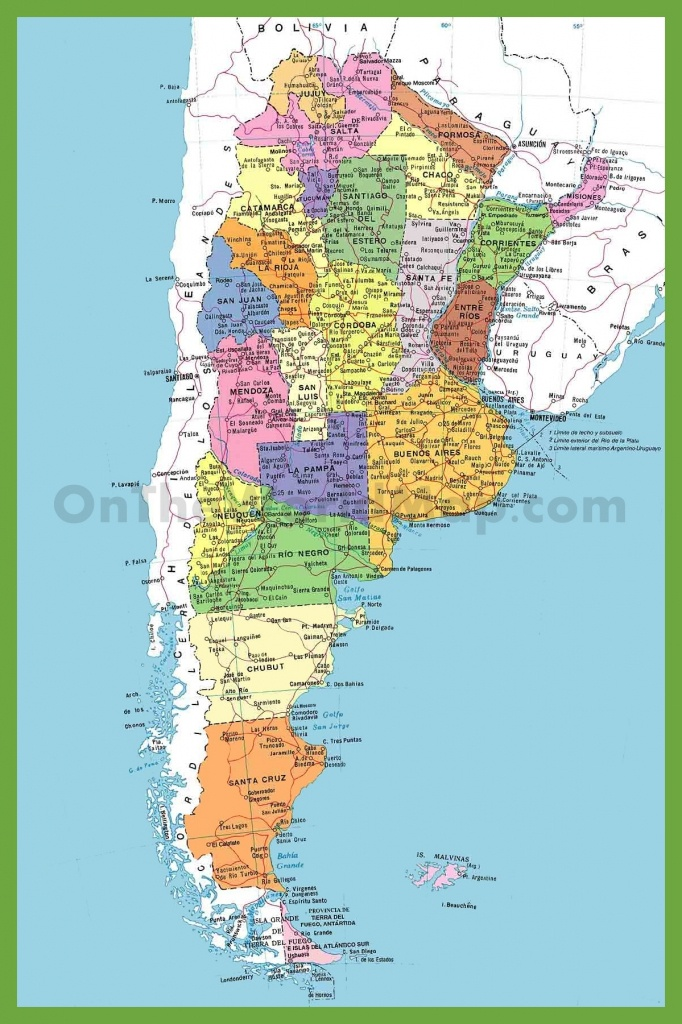 Detailed Map Of Argentina With Cities - Printable Map Of Argentina
