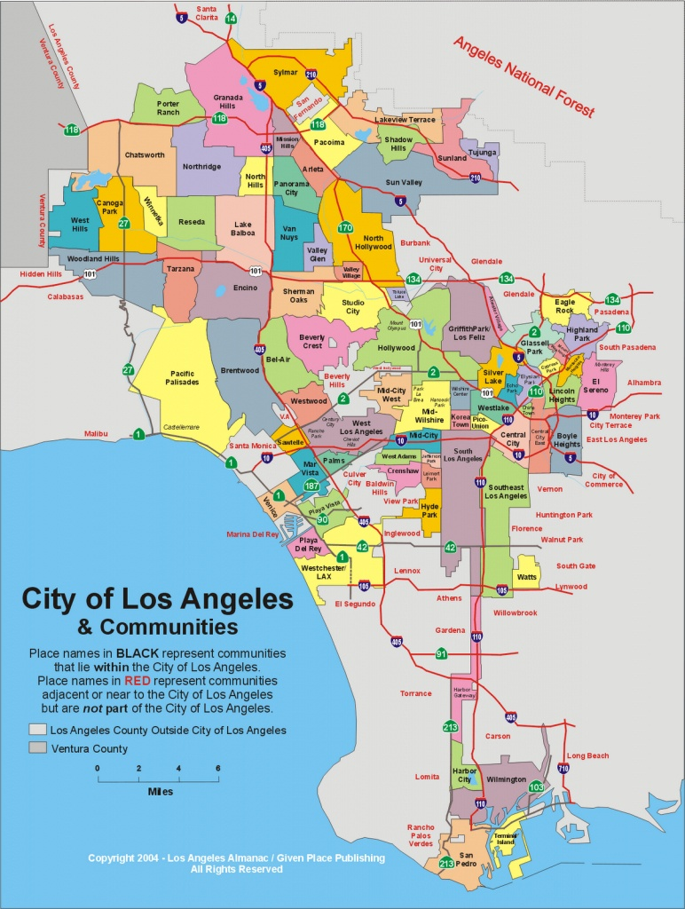 Detailed Map Of Los Angeles California And Travel Information - Map Of Los Angeles California Area